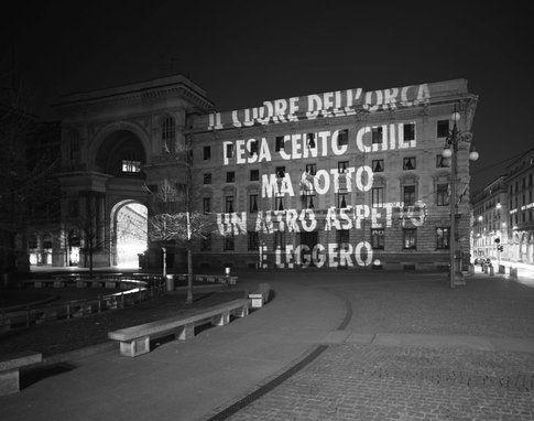 Jenny Holzer - Lode alla cattiva considerazione di sé, Milano 2007