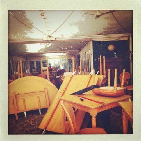 il ristorante rigoletto dopo il terremoto