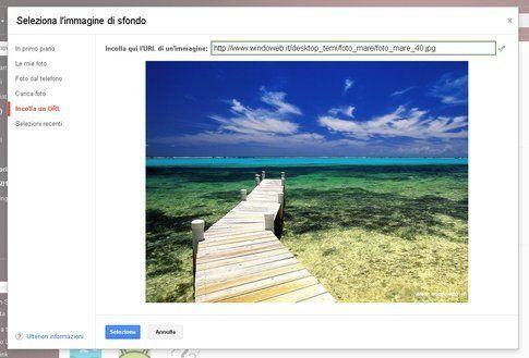 Inserisci URL di una foto online