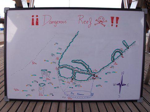 Mappa di un punto di immersione - Foto di Simone Carletti