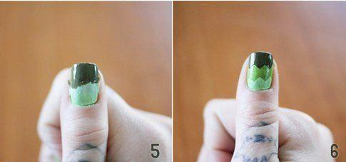Step 5 e 6: termina i livelli e concludi la nail art