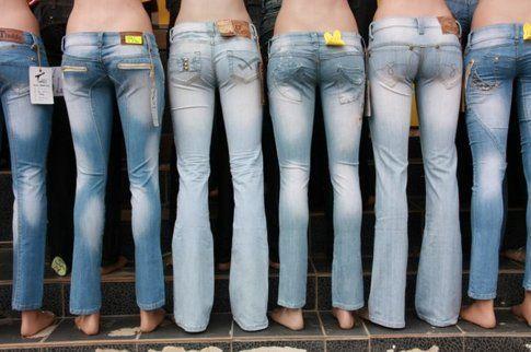 I vari modelli dei jeans cosmetici Eve-Lerock