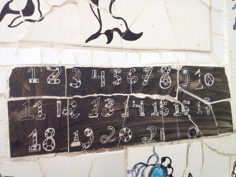 Dettaglio - Numeri degli Arcani Maggiori - Foto di Simona Forti