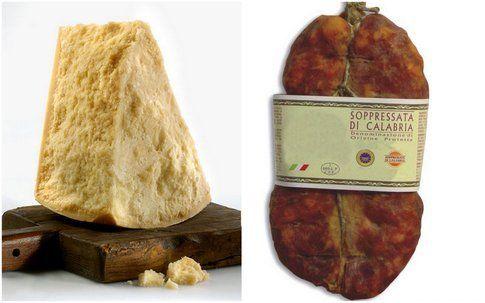 parmigiano e sopressata, dal nord al sud