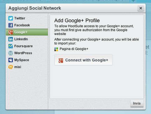 Aggiungere Google+ tra i social