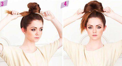 Step 3 e 4: arrotola i capelli e allargali a ventaglio