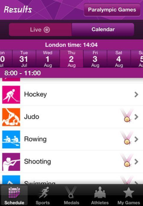 Official London 2012 App