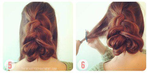 Step 5 e 6: fissa la ciocca e poi cotona i lati