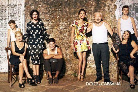 la pubblicità degli abiti Dolce e Gabbana