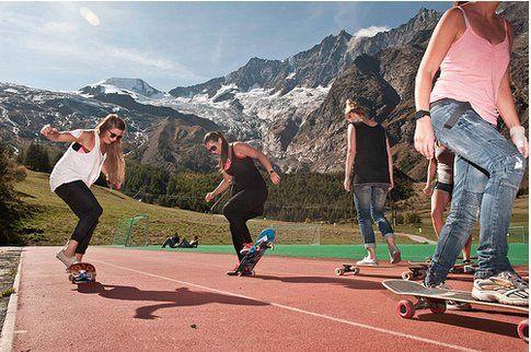 Skate clinic con panorama mozzafiato