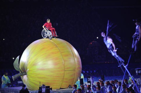 Cerimonia d'apertura alle Paralimpiadi. Foto di londra2012.abilitychannel.tv
