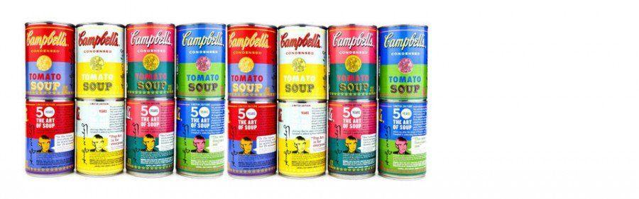 Zuppa campbell 39 s di warhol l edizione speciale nel 50 for Barattoli di zuppa campbell s