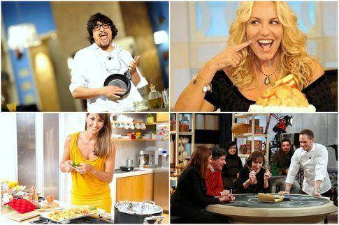 alcuni protagonisti dei programmi in cucina