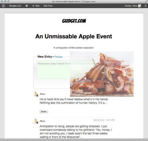 Wordpress - Liveblog - Carica le immagini