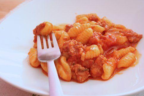 piatto di gnocchetti freschi al sugo