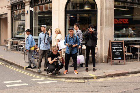 Orde di fotografi di Streetstyle