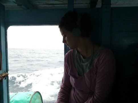 Sulla barca cargo verso le isole Banyak