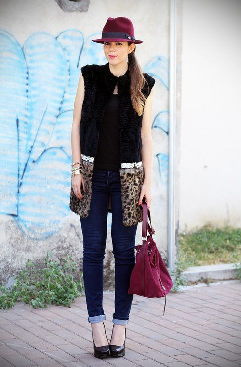 Burgundy e leopard