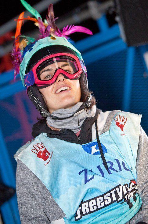 La rider svizzera Sina Candrian