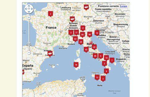 luoghi di spaccio pasta madre in italia (dal sito pastamadre.net)