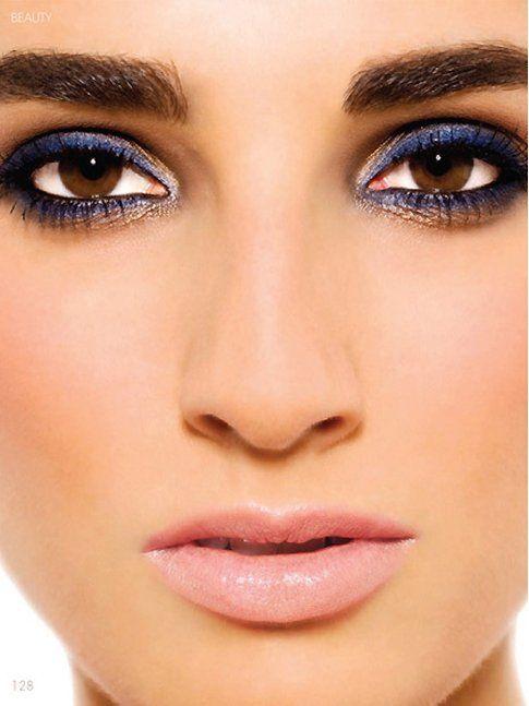 Make up in cinque mosse: blu e terra