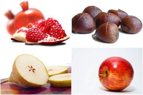mix di frutta della stagione di ottobre