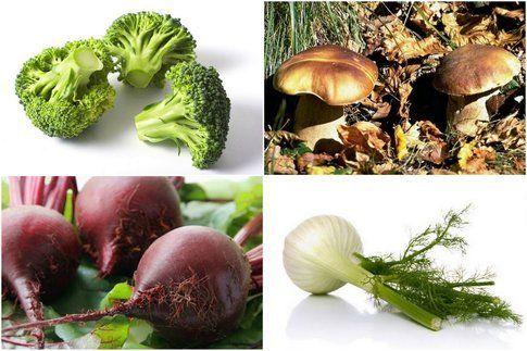 mix di verdure della stagione di ottobre