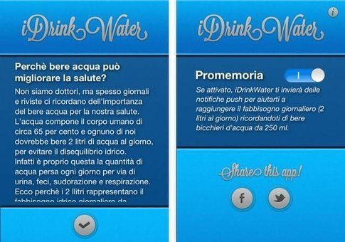 iDrink Water: ti ricordi di bere?