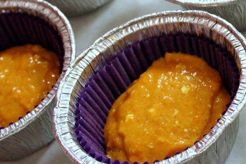 preparazione delle tortine nei pirottini