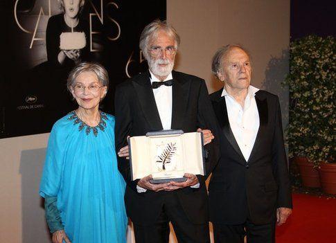 La premiazione a Cannes 2012 di Amour