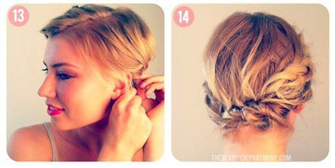 Raccogliere capelli corti con forcine