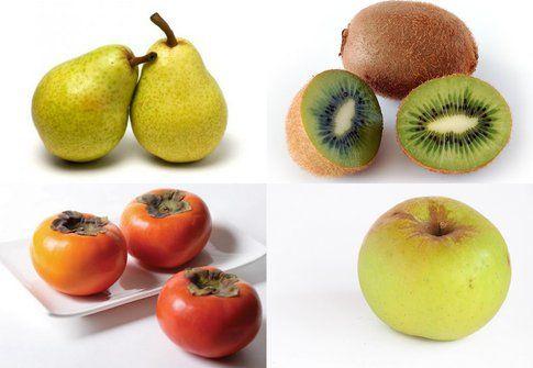 vari frutti di stagione del mese di novembre