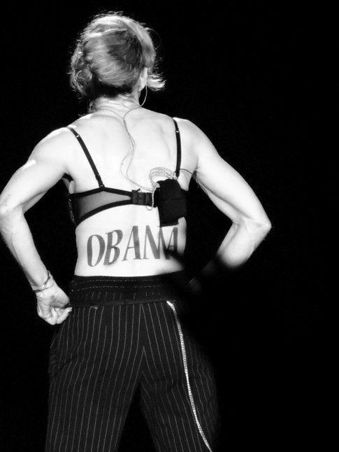 Body painting pro Obama
