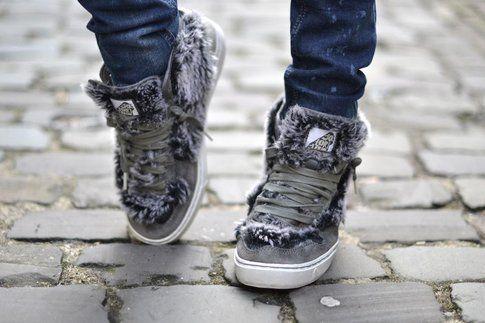 sneakers con pelo