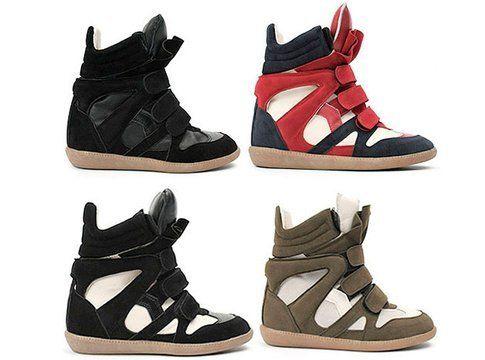 scarpe alte con zeppa