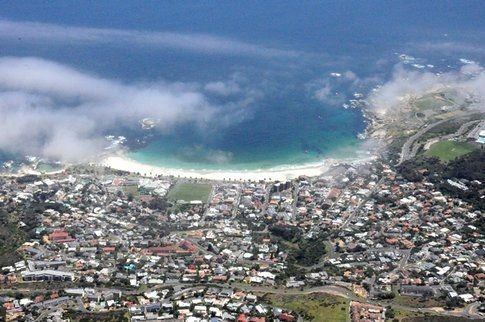 Vista aerea su Cape Town