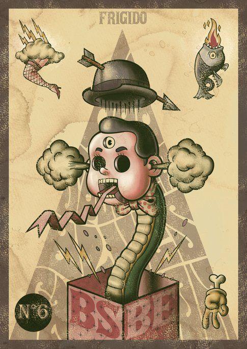 Frigido di Bud Spencer Blues Explosion illustrato da Alberto Becherini