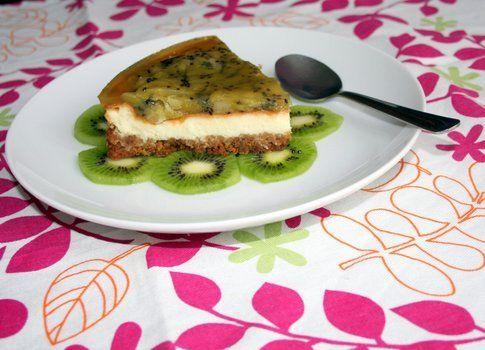 fetta di cheesecake al kiwi