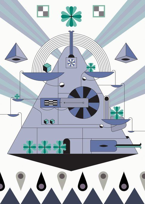 """Behind the tree"" dei Mojomatics illustrato da Jonathan Panacciò"