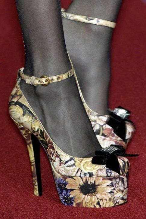 scarpe fantasia barocca