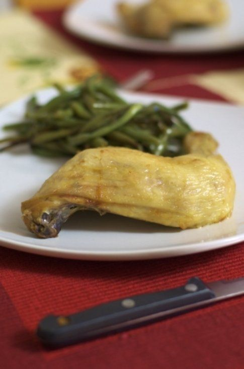 Coscia di pollo alla marmellata e miele