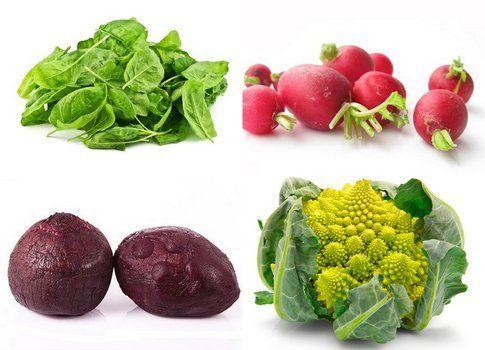 quattro verdure di stagione, dicembre