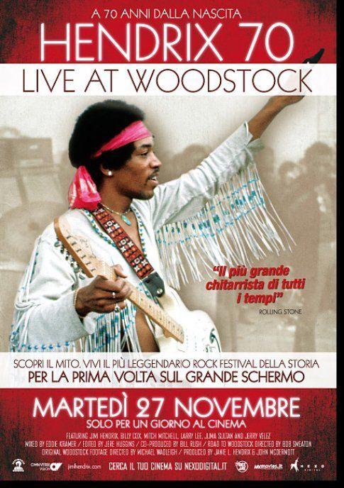 """Locandina di """"Live at Woodstock"""""""
