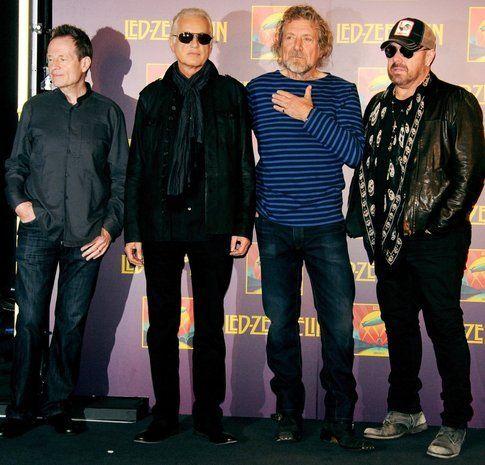 I Led Zeppelin con James Bonham nella promozione di Celebration Day