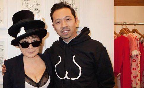 Yoko Ono in promozione per Opening Ceremony