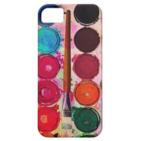 Fine Art Paint Colour Box & Funny Artist Brush Tough iPhone 3 Cases