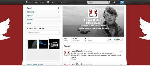 Profilo Twitter di @Home_Stage