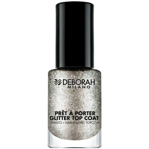 Prêt à Porter Gitter Top Coat - Sparkle Silver - Midnight Glam Collection