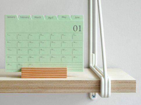 Letterpress File Card Planner di Present & Correct
