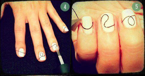 Step 4 e 5: di nuovo top coat e taglia il filo!